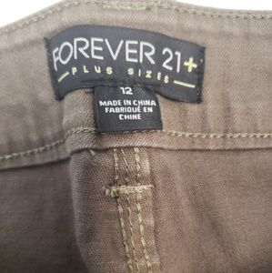 Forever 21 Jeans - Forever 21 plus sizes olive green distressed jeans